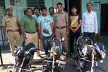 कोटा का वाहन चोर हरीशंकर चुरा रहा था बाइक, वारदात सीसीटीवी में हुई कैद