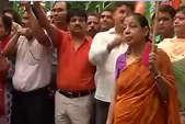 बटला हाउस एनकाउंटर पर BJP का प्रदर्शन, लगे सोनिया जवाब दो के नारे