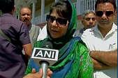 बंदूक उठाने पर अपने बच्चों को ड्रोन से मारता है पाक मगर कश्मीर में... : महबूबा