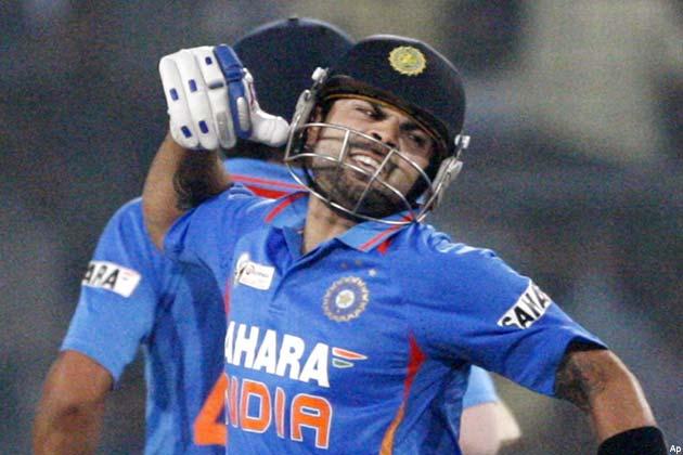 भारत का दूसरा विकेट सचिन तेंदुलकर के रूप में गिरा। सचिन ने कोहली के साथ दूसरे विकेट के लिए 133 रन जोड़े। सचिन ने अपनी 52 गेंदों की पारी में पांच चौके और एक छक्का लगाया।