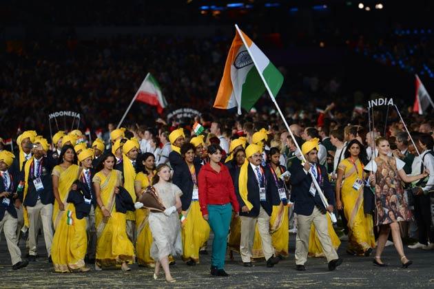 ओलंपिक पार्क में हुए भव्य समारोह में भारतीय दल का गर्माजोशी से स्वागत किया गया।