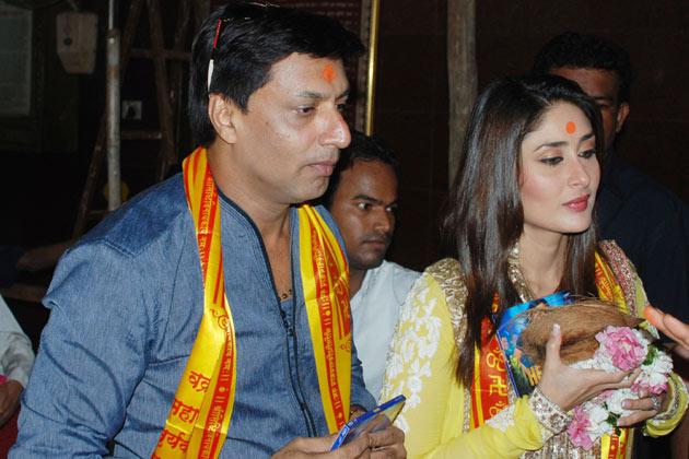 करीना और मधुर फैंस के बेकाबू होने के कारण अपनी फिल्म के बारे में चर्चा नहीं कर पाए।