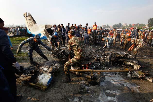 मारे गए सात नेपालियों में तीन चालक दल सदस्यों में पायलट बिजय तांदुकर, को-पायलट तकेशी थापा व विमान परिचायिका रुजा शाक्य शामिल हैं।