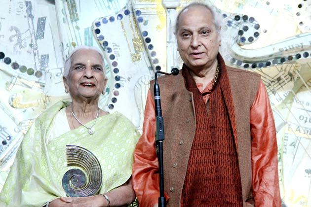 इंडिअन क्लासिकल वोकॅल, गिरीजा देवी और मशहूर शास्त्रीय गायक पंडित जसराज।