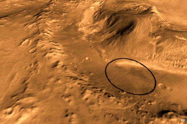 मंगल पर मिला जलमयी चट्टानों का आवरण