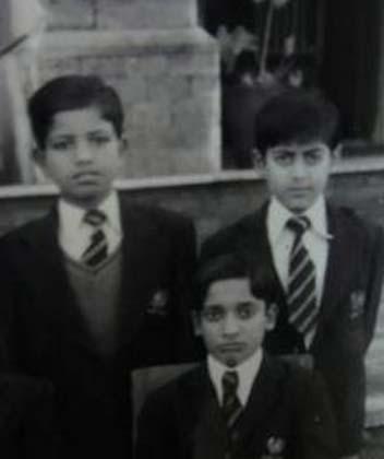 सलमान के बचपन का फोटो।