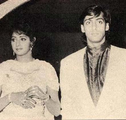 श्रीदेवी के साथ सलमान ने चंद्रमुखी, चांद का टुकड़ा जैसी फिल्में कीं।