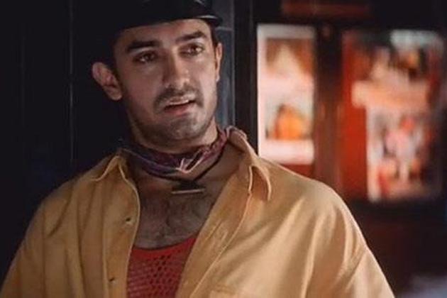 फिल्म 'गुलाम'में आमिर का लुक।