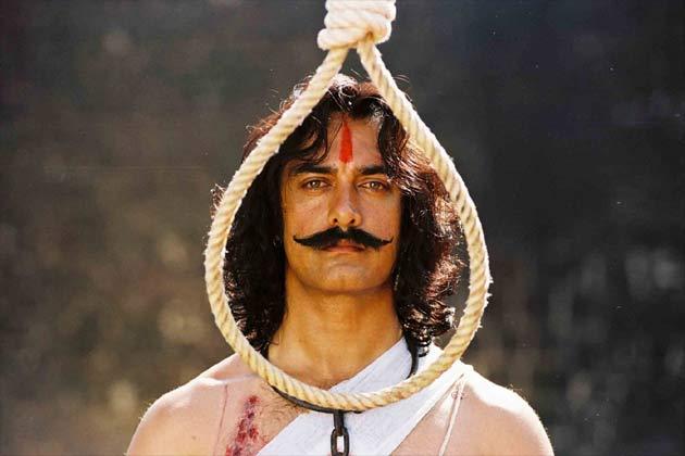 फिल्म 'मंगल पांडे' में आमिर का लुक।