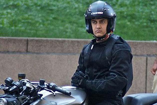 फिल्म 'धूम 3' में आमिर का लुक।