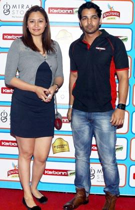 सीसीएल की पार्टी में टेनिस खिलाड़ी ज्वाला गुट्टा भी पहुंची।
