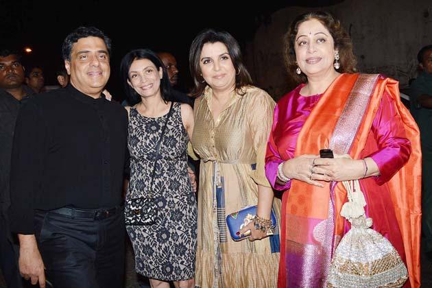 भंसाली की बर्थडे पार्टी में फराह खान और किरण खेर भी पहुंची।