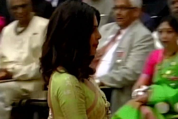 पद्मश्री पुरस्कार से सम्मानित हुईं प्रियंका चोपड़ा