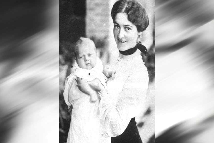 जॉर्ज ऑरवेल मां के साथ (Courtesy- Vishwash mukherjee)