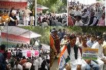 कांग्रेस की रैली दिखी बेरंग