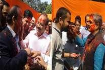 दिल्ली BJP दफ्तर में होली