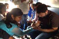 राहुल की रेलयात्रा