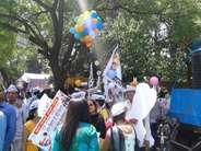 AAP की किसान रैली