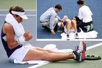 US ओपन: खेलते-खेलते अचानक कोर्ट पर गिरी ब्रिटिश टेनिस स्टार, पर नहीं मानी हार