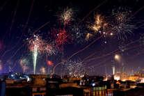 पतंगबाजी के बाद आतिशबाजी से जगमग हुआ जयपुर का आसमां