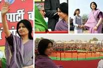पहले चुनावी दौरे में अखिलेश के रंग में रंगी नजर आईं डिंपल, देखें तस्वीरें