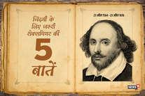 जिंदगी के लिए जरूरी शेक्सपियर की ये 5 खास बातें जान लें