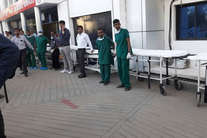 PHOTO: रायपुर लाए गए सुकमा हमले में घायल जवान