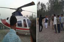 बाल-बाल बचे आजम खान, बाराबंकी में हेलिकॉप्टर की खेत में इमरजेंसी लैंडिंग