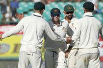 लॉयन के आगे लड़खड़ाई भारतीय पारी, दूसरे दिन बनाए 248/6 रन