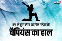 चैंपियंस ट्रॉफी इंग्लैंड में एक जून से शुरू होने जा रही है. डिफेंडिंग चैंपियन टीम इंडिया अगर 2013 में चैंपियन बनी थी तो उसके पीछे सबसे बड़ा कारण था टीम की लाजवाब बल्लेबाज़ी. उस पूरे टूर्नामेंट में भारतीय बल्लेबाज़ छाए रहे थे. टूर्नामेंट के टॉप-5 बल्लेबाजों में से तीन तो भारत के ही थे. शिखर धवन, रोहित शर्मा और विराट कोहली पिछली चैंपियंस ट्रॉफी में टीम इंडिया के हीरो रहे थे. इस बार भी अगर भारत को खिताब अपने नाम करना है तो सबसे ज़रूरी है कि बल्लेबाज़ कमाल करें. तो आईए एक नज़र डालते हैं हाल ही में हुए आईपीएल में कैसा था टीम इंडिया के बल्लेबाज़ों का हाल: (Image Source: News18)