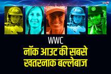 महिला वर्ल्ड कप 2017 के सेमीफाइनल मुकाबले में हरमनप्रीत कौर (नाबाद 171) की बेहतरीन पारी की मदद से टीम इंडिया फाइनल में पहुंच गई. विश्वकप के सेमीफाइनल मुकाबले में हरमनप्रीत कौर ने ऐसी आतिश पारी खेली कि कई छोटे-बड़े रिकॉर्ड्स धवस्त कर दिए. ऐसा ही रिकॉर्ड रहा, नॉक-आउट मुकाबले में सबसे ज्यादा रन बनाने का. पारी की शुरुआत ना करते हुए हरमनप्रीत कौर नॉक-आउट मुकाबले में सबसे ज़्यादा रन (171 रन) बनाने वाली बल्लेबाज़ बन गई हैं. ये रिकॉर्ड महिला और पुरुष दोनों क्रिकेट में है. हम आपको रहे हैं उन बल्लेबाज़ों के बारे में जो नॉकआउट में सबसे खतरनाक रहीं.