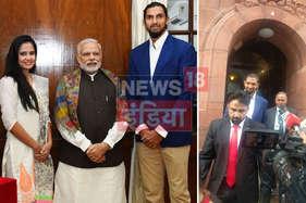 होने वाली वाइफ के साथ संसद पहुंचे इशांत, शादी के लिए पीएम मोदी को दिया निमंत्रण