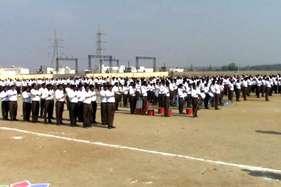 चित्तौड़गढ़ः आरएसएस का पथ संचलन, लगभग 500 स्वयं सेवकों ने लिया भाग