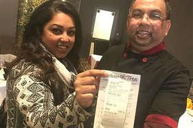 भारतीय खाने पर विदेशी हुआ लट्टू, 79 के बिल पर दी 1000 पाउंड की टिप