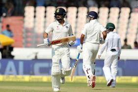 IND vs BAN: कोहली ने जड़ा 'विराट' शतक, हैदराबाद टेस्ट में भारत का पलड़ा भारी
