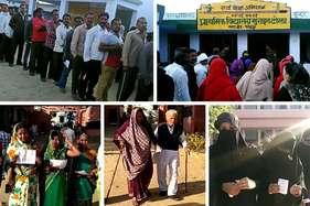 #UPVotes: सुबह से ही लग गईं लंबी लाइनें, वृद्ध मतदाताओं में भी दिख रहा उत्साह