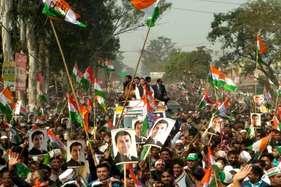 हरिद्वार में राहुल गांधी का 75 किलोमीटर मैराथनरोड शो, उमड़ा जनसैलाब