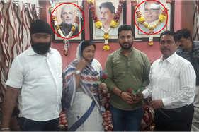 इंदौर की मेयर ने पीएम मोदी और शिवराज सिंह की तस्वीर पर चढ़ा दी माला
