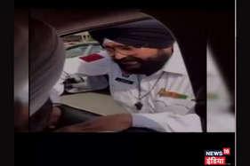 घूस लेते पकड़ा गया ट्रैफिक कॉन्सटेबल, मंत्री जी ने बनाया वीडियो
