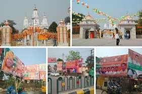 दुल्हन की तरह सजा गोरखपुर शहर, हर तरफ लगे सीएम योगी के बैनर- पोस्टर