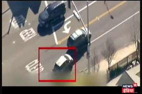 बीच सड़क पर चलता रहा चोर पुलिस का खेल, चकमा देता रहा शख्स