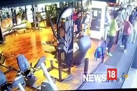 युवक ने जिम में घुसकर महिला को रॉड से पीटा, घटना सीसीटीवी में कैद