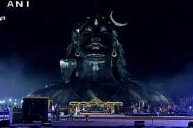 पीएम मोदी ने किया भगवान शिव की 112 फुट ऊंची प्रतिमा का अनावरण