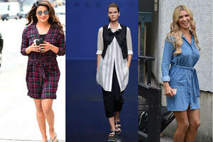 नहीं पहनतीं वेस्टर्न: प्लाजो या जेगिंग के साथ पहनें शर्ट ड्रेस