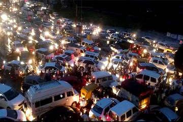 गुरुग्राम-जयपुर हाईवे पर लगे