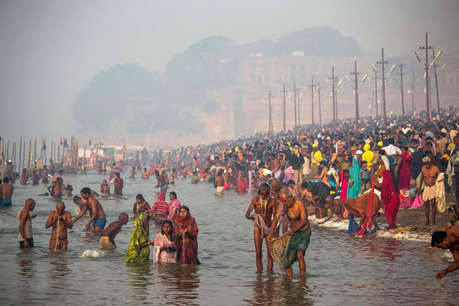 महाकुंभ का 5वां शाही स्नान, संगम पर उमड़ा जनसैलाब
