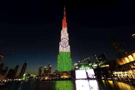 तिरंगे के रंग में रंगी दुनिया की सबसे ऊंची इमारत बुर्ज खलीफा, मना रही गणतंत्र दिवस का जश्न
