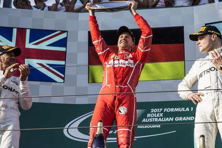 फॉर्मूला-1: फेरारी के सेबास्टियन ने जीती ऑस्ट्रेलियन ग्रांप्री, चैंपियन हैमिल्टन पिछड़े