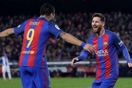 स्पेनिश लीग : बार्सिलोना ने वालेंसिया को 4-2 से हराया, मैसी से रहे जीत के हीरो