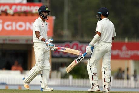 भारत ने पहली पारी में बनाए एक विकेट खोकर 120 रन